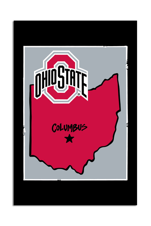 Ohio State University - State Logo Garden Flag
