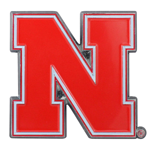 University of Nebraska Color Chrome Car Emblem