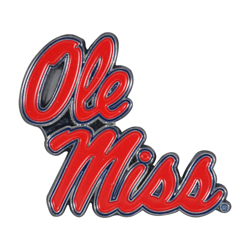 University of Mississippi Color Chrome Car Emblem
