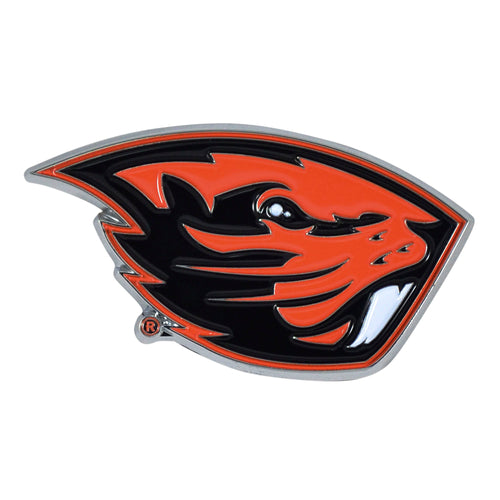 Oregon State University Color Chrome Car Emblem