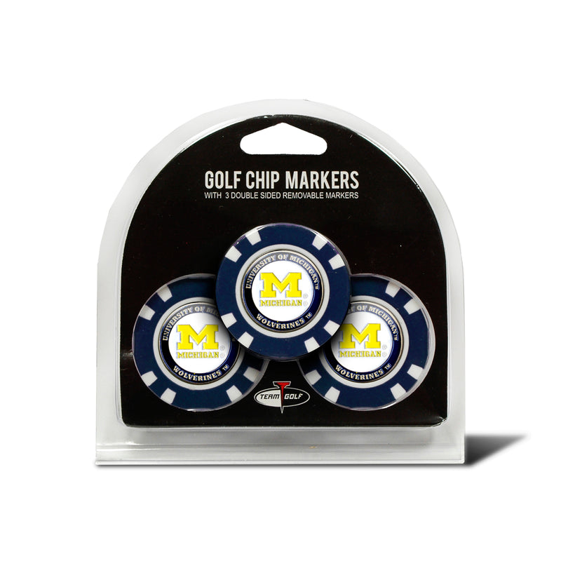 University Michigan 3 Pack Golf Chip Ball Markers