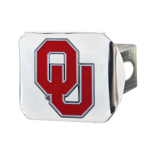 University of Oklahoma Chrome Hitch Cover with Color Emblem