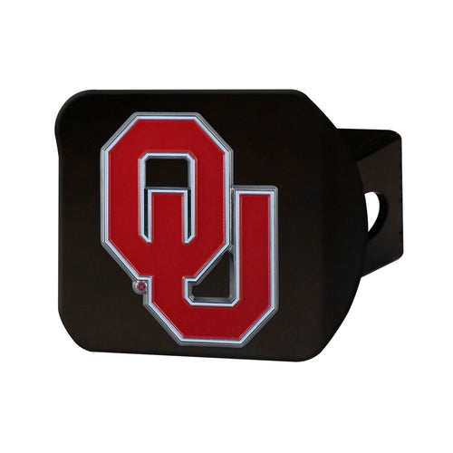 University of Oklahoma Black Hitch Cover with Color Emblem