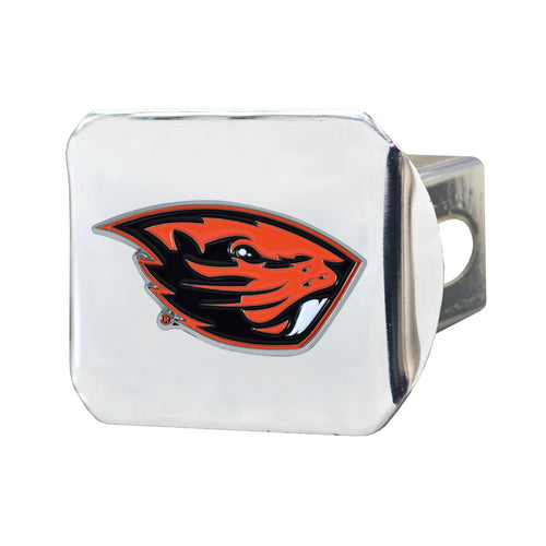 Oregon State University Chrome Hitch Cover with Color