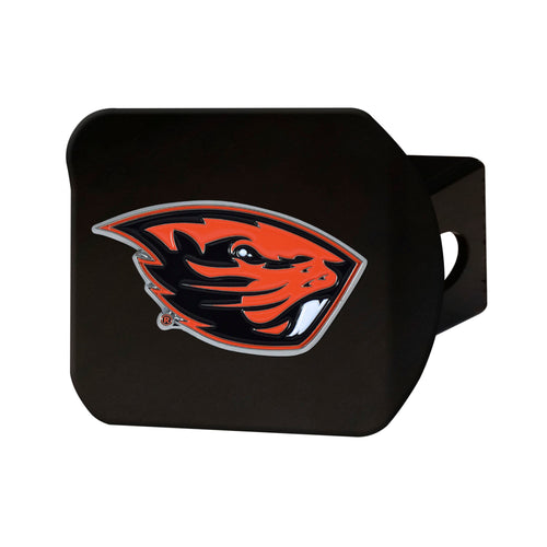 Oregon State University Black Hitch Cover with Color