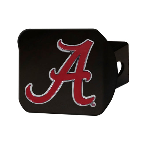 University of Alabama Black Hitch Cover with Color Emblem