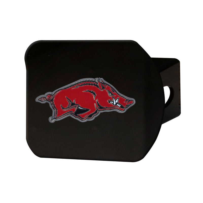 University of Arkansas Black Hitch Cover with Color Emblem