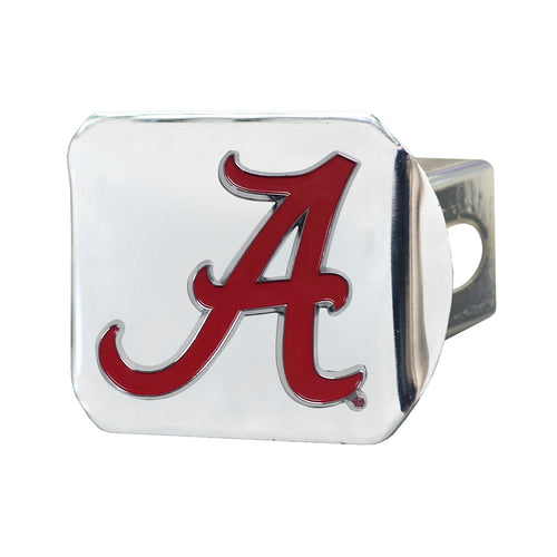 University of Alabama Chrome Hitch Cover with Color Emblem