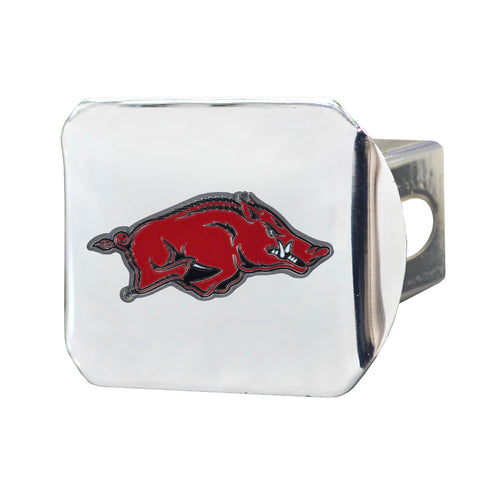 University of Arkansas Chrome Hitch Cover with Color Emblem