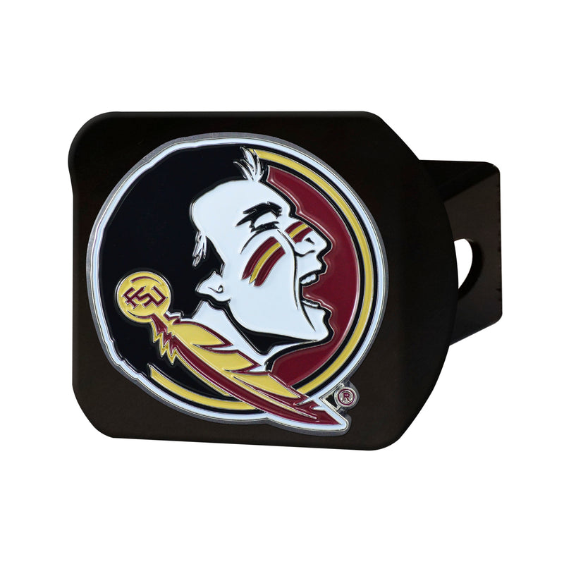 Florida State University Black Hitch Cover with Color Emblem