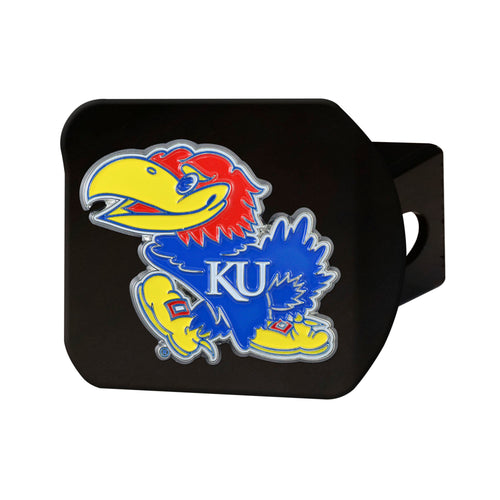 University of Kansas Black Hitch Cover with Color Emblem