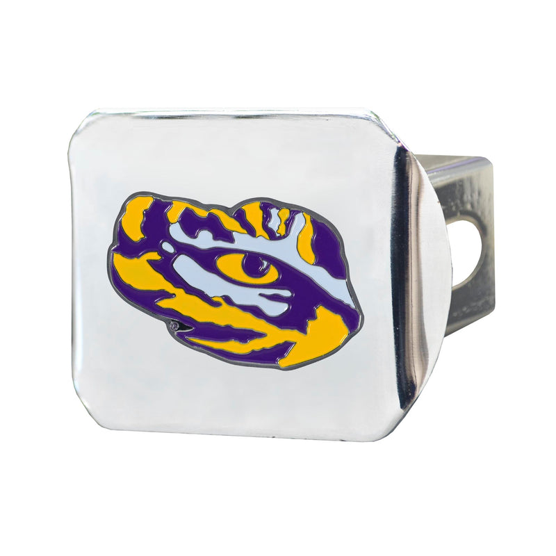 Louisiana State University Chrome Hitch Cover with Color Emblem