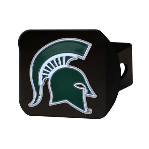 Michigan State University Black Hitch Cover with Color Emblem