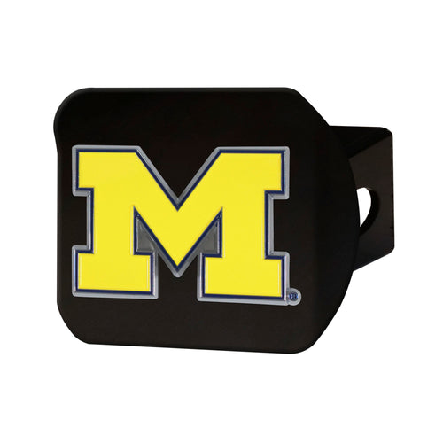 University of Michigan Black Hitch Cover with Color Emblem