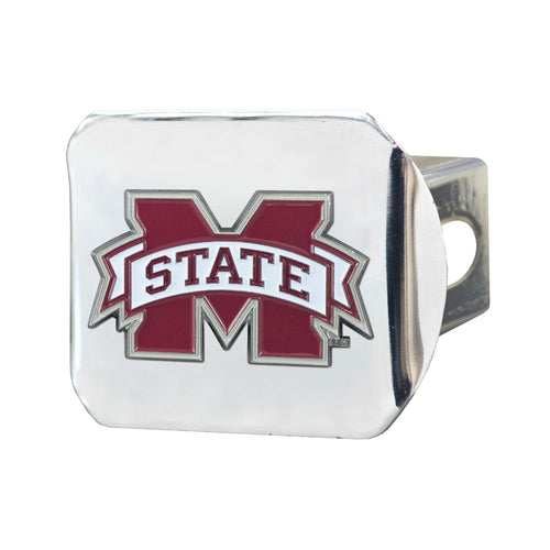 Mississippi State University Chrome Hitch Cover with Color