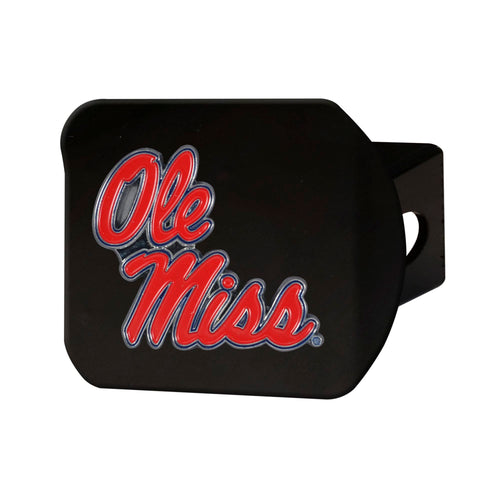 University of Mississippi Black Hitch Cover with Color Emblem