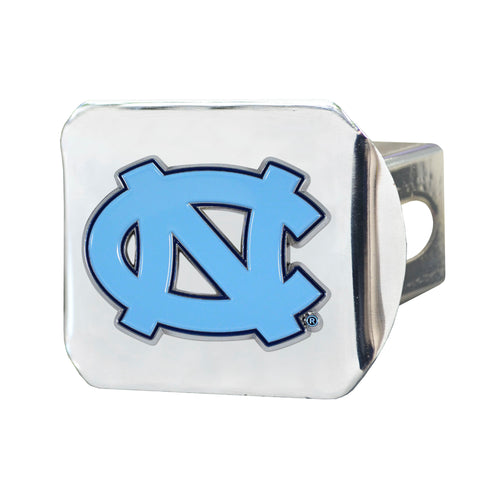 University of North Carolina Chrome Hitch Cover with Color Emblem