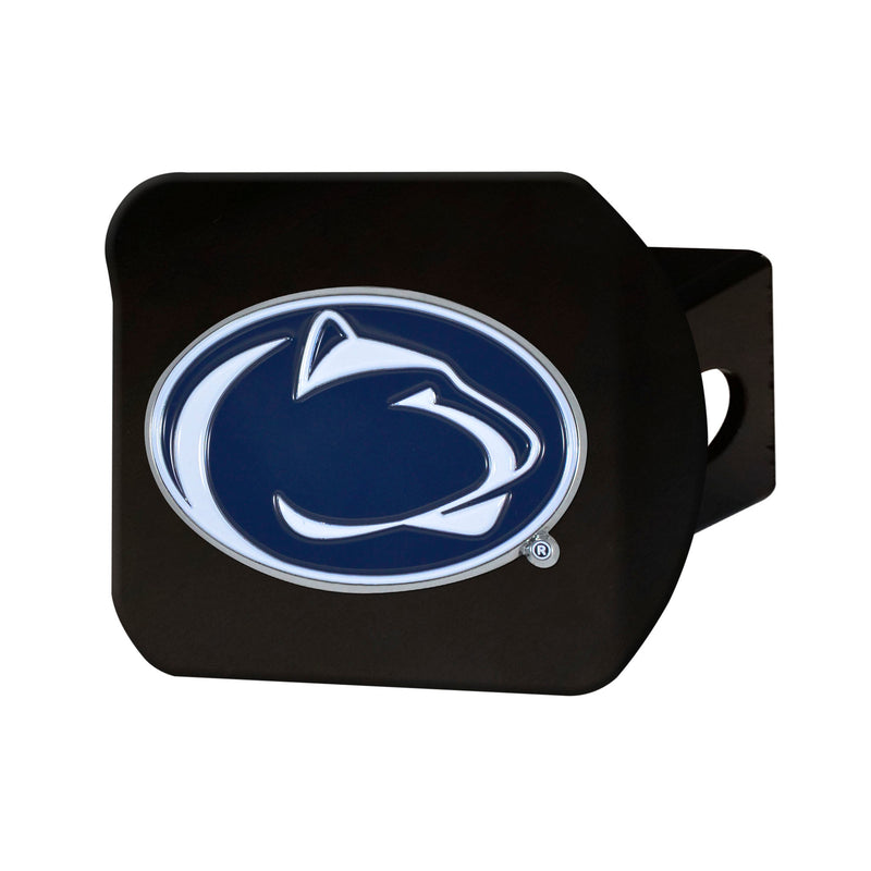 Penn State University Black Hitch Cover with Color