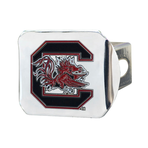 University of South Carolina Chrome Hitch Cover with Color Emblem