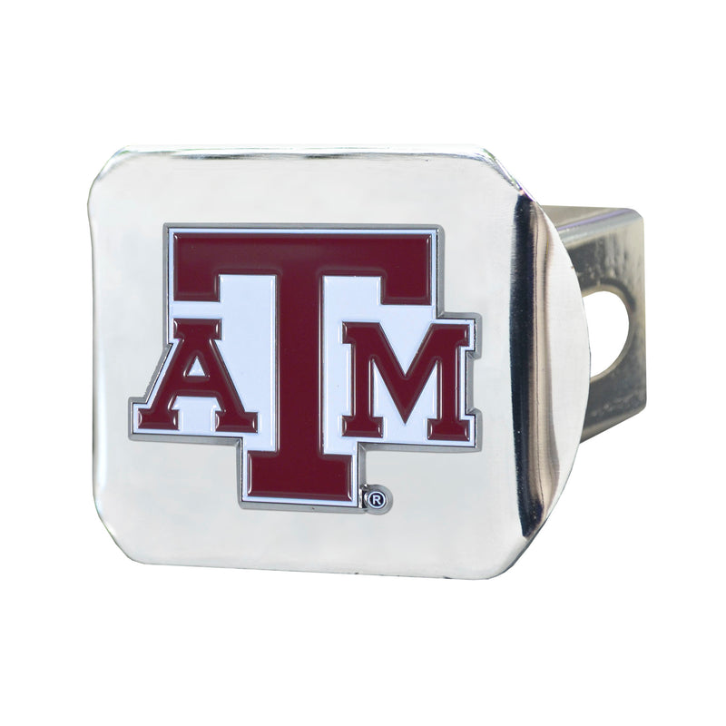 Texas A&M University Chrome Hitch Cover with Color Emblem