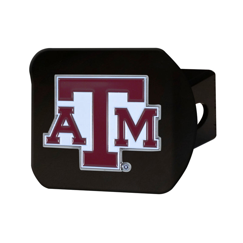 Texas A&M University Black Hitch Cover with Color