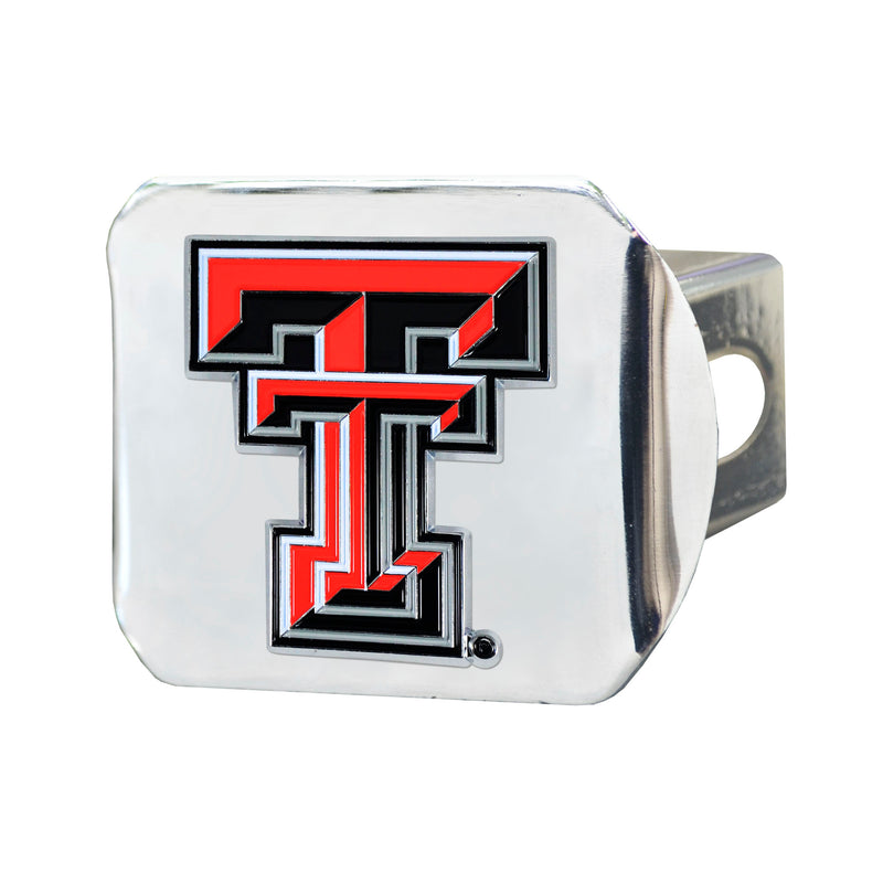 Texas Tech University Chrome Hitch Cover with Color Emblem