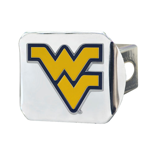 West Virginia University Chrome Hitch Cover with Color Emblem
