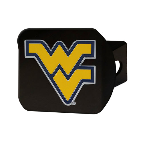 West Virginia University Black Hitch Cover with Color