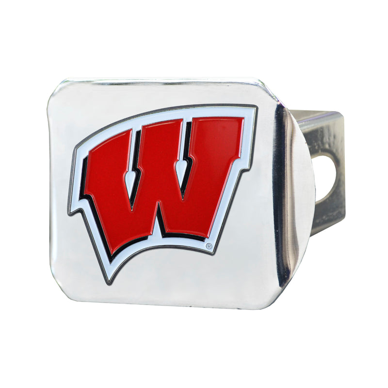 University of Wisconsin Chrome Hitch Cover with Color Emblem