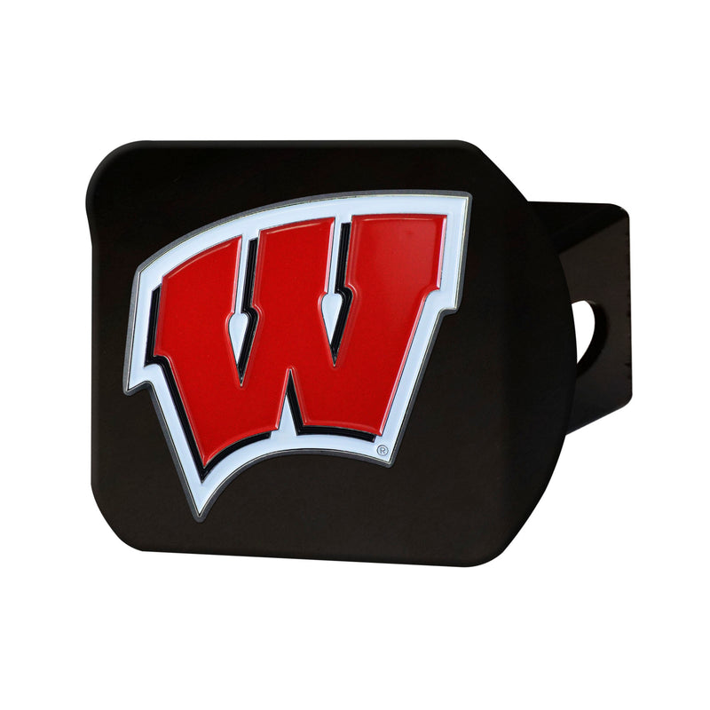 University of Wisconsin Black Hitch Cover with Color Emblem