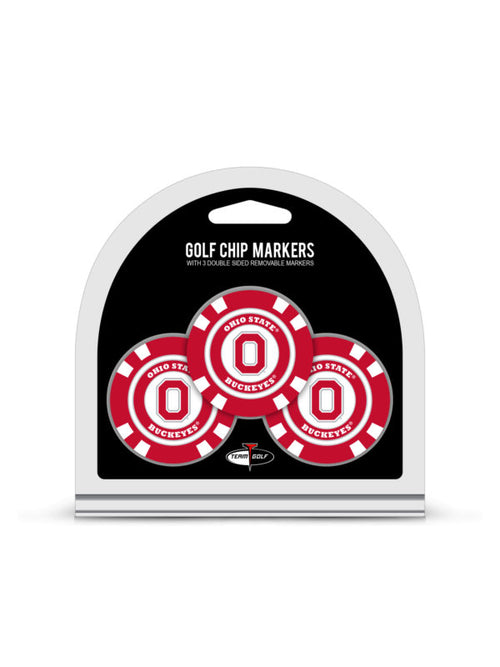 Ohio State University 3 Pack Golf Chip Ball Markers