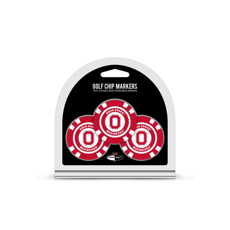 University of Oklahoma 3 Pack Golf Chip Ball Markers