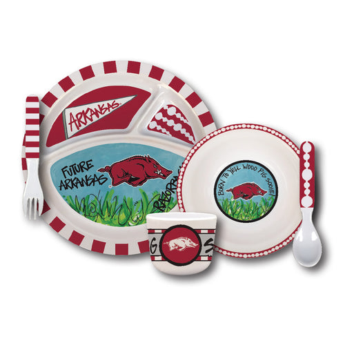 University of Arkansas Melamine Kids Dish Set