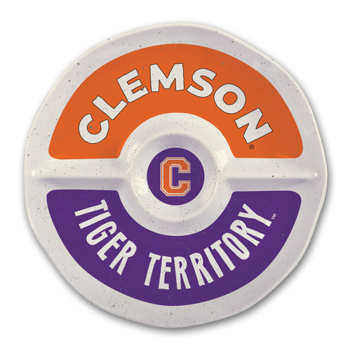 Clemson University Heavy Weight Melamine Divided Tray