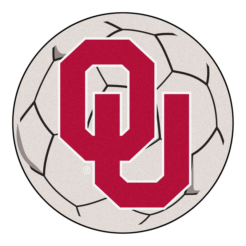 University of Oklahoma Soccer Ball Rug