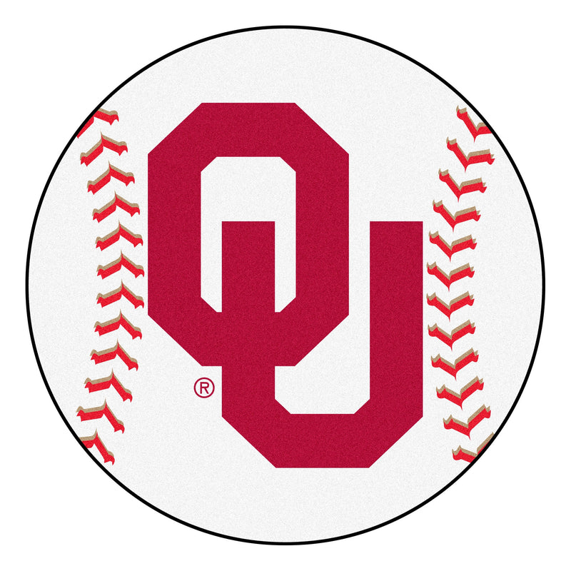 University of Oklahoma Baseball Area Rug