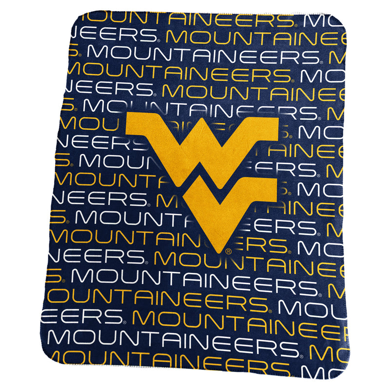 West Virginia University Classic Fleece Lightweight Blanket