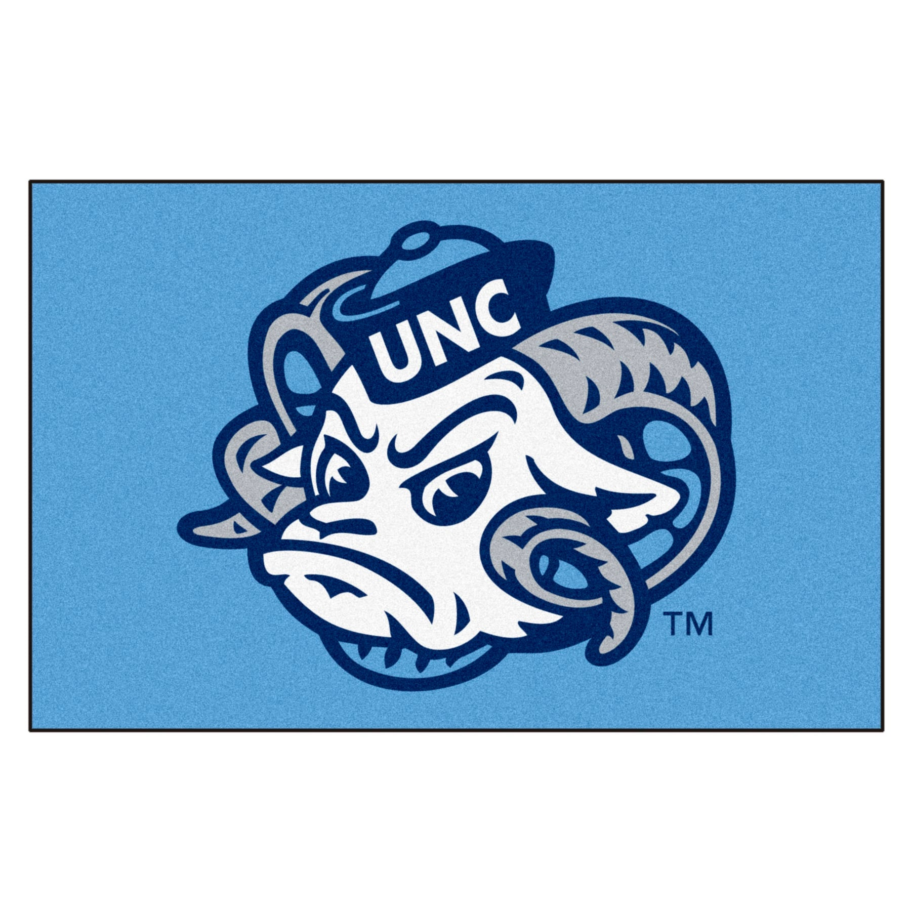 University Of North Carolina Tar Heels Logo Area Rug Zokee