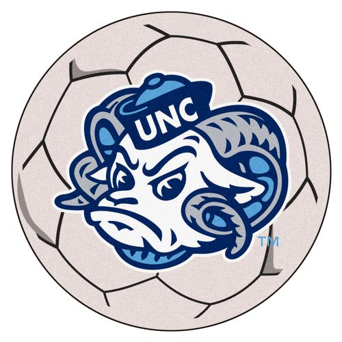 University of North Carolina Tar Heels Soccer Ball Rug