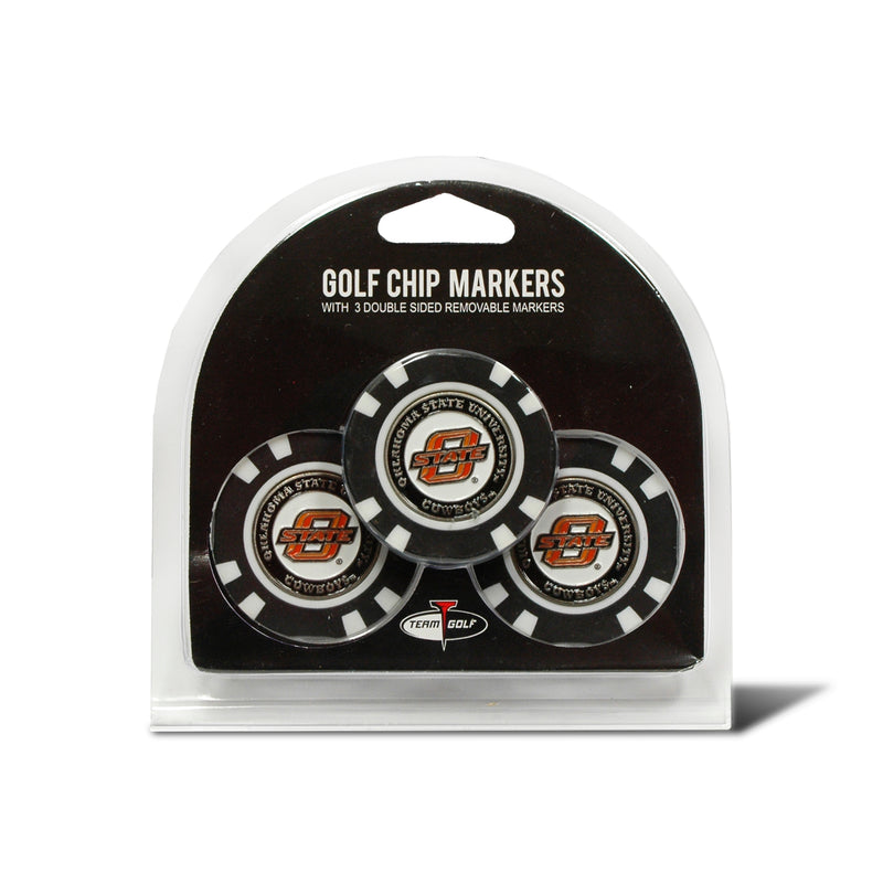 Oklahoma State University 3 Pack Golf Chip Ball Markers