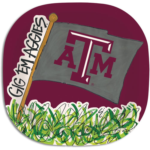 Texas A&M University Melamine Plate