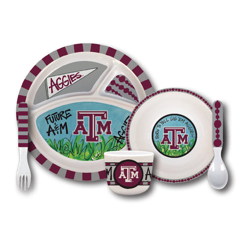 Texas A&M University Melamine Kids Dish Set