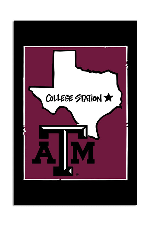 Texas A&M University - State Logo Garden Flag