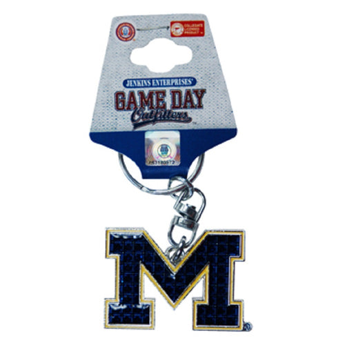 University of Michigan Emblem Keychain