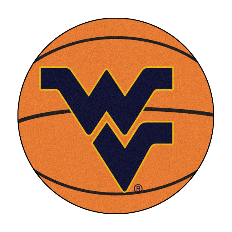 West Virginia University Basketball Area Rug