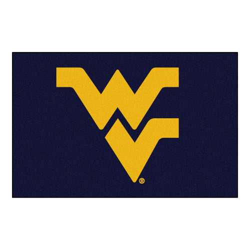 West Virginia University Logo Area Rug