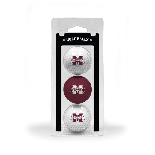 Mississippi State University 3-Pack Golf Balls