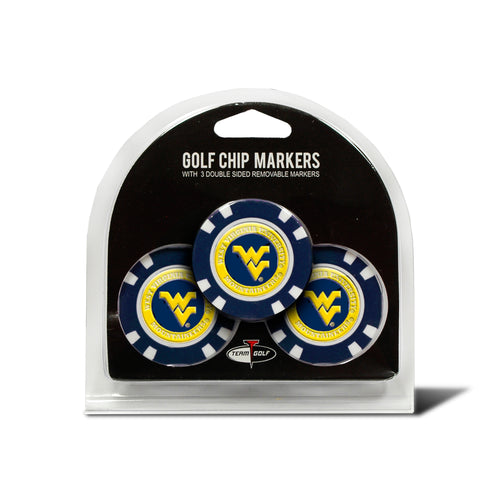 West Virginia University 3 Pack Golf Chip Ball Markers