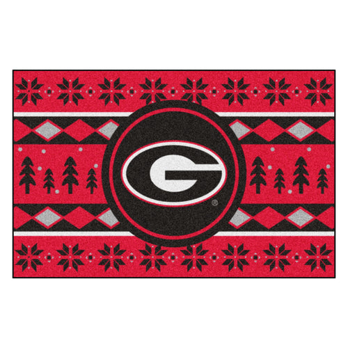 University of Georgia Holiday Sweater Rug