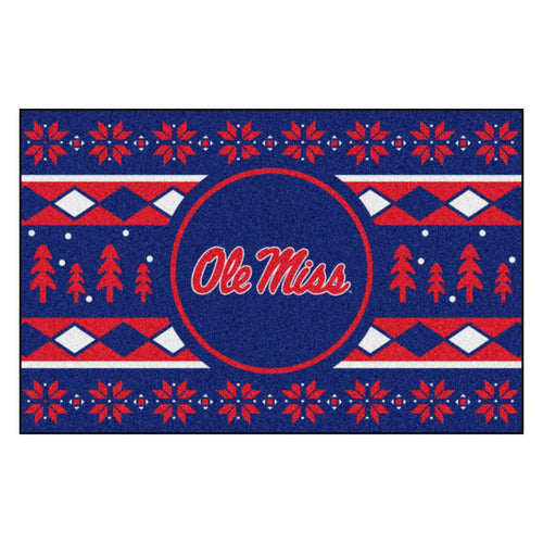 University of Mississippi Holiday Sweater Rug